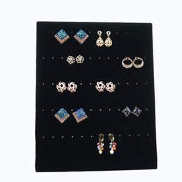 Wholesale Wood Jewelry Box Stand - 2017 Free Shipping Trumpet Display Shelf Board Pin Ear Ring Jewelry Display Stand Earring Holder Jewelry Box Store Shelf