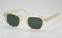 Wholesale Hot Johnny - Vintage Polarized Sunglasses Johnny Depp Art Mens Sunglass Flesh Frame G15 Lens 100%UV400 Sun Glasses 2017 New High Quality Hot Selling