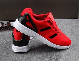 Wholesale New Flux - 2017 New ZX Flux All Black,White,Red,Blue Sneakers Men's Casual Shoes Mesh Breathable Running Shoes Mens Outdoor Sports Shoes 40-44