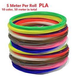 Wholesale Pla Plastic 3d Printer - (10 Color* 50 Meter*5 Meter Per Roll, 36Color Option) New High Quality 3D Pen Printer Filament PLA Diameter 1.75mm Filament Materials