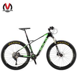 Wholesale Mtb Group - SAVA PLUS3.0 Mountain Bike 27.5 inch Carbon Fiber Bicycle Frame 22 Speed MTB Bike Cycle M8000 XT Group Set Disc Brake