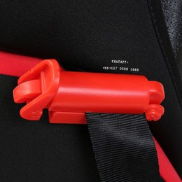 Wholesale Safety Locks For Seat Belts - Wholesale- adjuster baby seat belt clip Safety belts for children Anti - retraction child safety lock Child seat Baby travel supplies ww