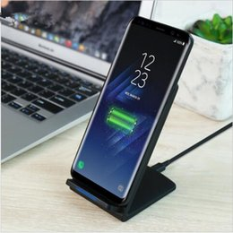 Wholesale Qi 5v - 5V 2A QI Fast Wireless Charger For Samsung Galaxy S8 S8 Plus S7 S6 S6 Edge S6 Edge Pus All Qi-Enabled Devices Charger