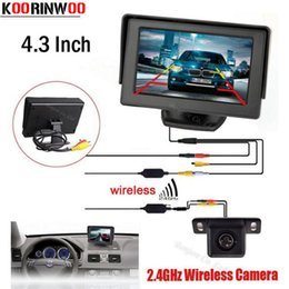 "Wholesale Wireless Parking Camera Reverse - KOORINWOO Hot sale Wireless Car 4.3"" TFT LCD vehicle SCREEN Monitor Display CCD Mini Reversing back up Rearview camera Parking System"