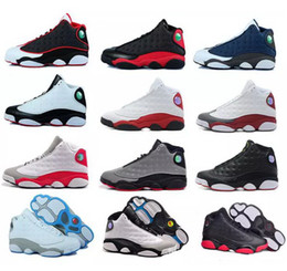 Wholesale Hologram For Sale - Air man woman Basketball shoes Retro 13 bred flints grey toe He Got Game hologram barons sport sneaker For hot online sale