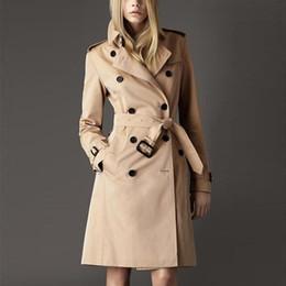 Wholesale Cotton Trench Coat Plus Size - Hot Autumn Spring Women Ol Parka Solid Elegant Trench Coat Female Fashion Coat With Belt Slim Plus Size Chalecos Mujer