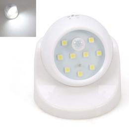 Wholesale Led Nightlights For Kids - Wholesale- Security 9 LED Motion Sensor Night Light 360 Degree Rotation Auto PIR Detector Lamp Nightlight for Children Kids Baby Bedroom