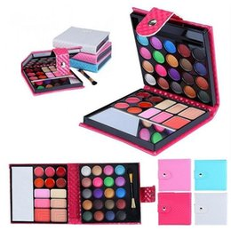 Wholesale make up eye shadow palette - Women Makeup Glitter Eyeshadow Palette 32 colors Fashion Eye Shadow Costmetic Make Up Shadows With Case