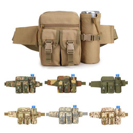 Wholesale Military Outdoor Water Bottle - Sports Waterproof Camo Travel Water Bottle Bags Kettle Pockets CS Military Tactics Outdoor Small Molle Pouches