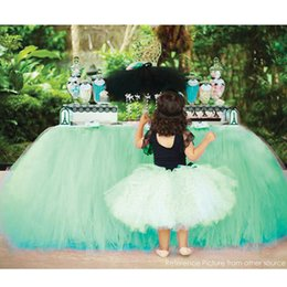 Discount party chairs wholesale - Tulle Table Skirt TUTU Tableware Chair Covers Customize Wedding Birthday Party Decor