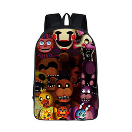 Wholesale Night Backpack - Wholesale- Five Nights At Freddy Backpack Boys Girls FNAF School Bags Backpack Five Night At Freddys Bag Children Cartoon Kindergarten Bags