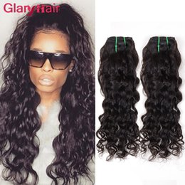 Wholesale Malaysian Weave For Cheap - Malaysian Brazilian Virgin Human Hair Bundles Water Wave Weave Extensions Natural Wave Cheap Remy Hair Weft For Black Women Curly Hair Weave