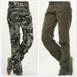 Wholesale Women Straight Leg Jeans - Wholesale- 2016 women jeans arm multi-pocket camouflage pants loose army pants wide leg pants slacks trousers uniform outdoors