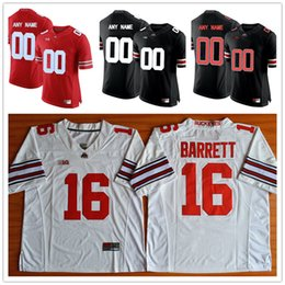 Wholesale White Campbell - Custom Ohio State Buckeyes #21 Campbell Williamson 17 Jerome Baker COX Mens College Football Limited White Red Black Stitched Jerseys S-3XL