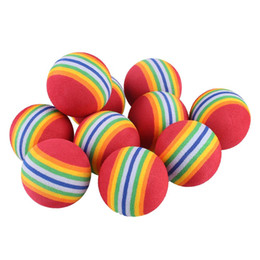 Wholesale Golf Ball Swing - Wholesale- 10Pcs Rainbow EVA Foam Sponge Golf Tennis Ball Swing Practice Training Aid