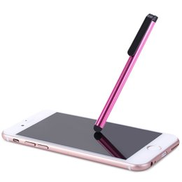 Wholesale Stylus Pen Aluminium - Wholesale- 2016 Aluminium Stylus Touch Screen Pen With Clip Universal for Phone Laptop Compact and Lightweight Convenient to Carry