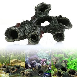 Wholesale Swimming Pools Wholesalers - Wholesale- Aquarium Trunk Bole Driftwood Fish Tank Resin Underwater Ornaments Decoration