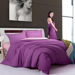 Wholesale Black Silk Bedding - Wholesale- MIFE Nice Velvet Silk Bedding Variety of Colors Printing Duvet Cover Bedding Set Duvet Cover Bed Sheet Pillowcases 4PCS Queen