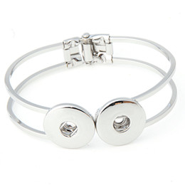 Wholesale Christmas Fund - Vogue of new fund of 2017 noosa Jiang Fengge gold silver metal snap button charm bracelet jewelry swap Nosa jewelry in advance