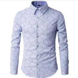 Wholesale Unique Fashion Clothes - Wholesale- Fashion Unique Print Mens shirts long sleeve 2016 Brand Luxury slim fit Business Chemise homme plus size men clothes dress shirt