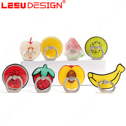 Wholesale Banana For Iphone - Cute Fruit Banana 360 Degree Finger Ring Mobile Phone Smartphone Stand Holder For iPhone 7 Xiaomi Universal Bracket
