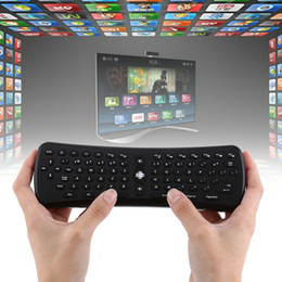 Wholesale Keyboard Mouse Universal Remote Control - Wholesale- 2.4Ghz Wireless 6 Axis T6 Gyroscope Air Mouse Keyboard Remote Control for PC Smart Android TV Box OTG Phone Tablet PC