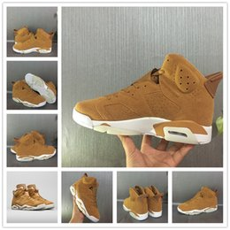 Wholesale Christmas Sail - 2017 shoes 6 Golden Harvest Men Basketball Shoes High Quality Sail Golden Harvest Wheat 6s VI Ourdoor Sneakers With Box