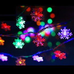 Wholesale Pink Snowflake Ornament - Christmas Snowflake battery models LED String Light for Outdoor Patio Lawn Landscape Garden Home Wedding Holiday