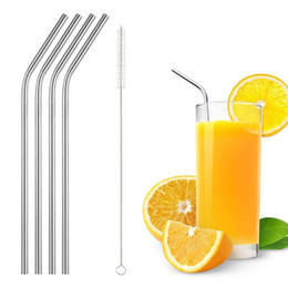 Wholesale Straw For Home - 4+1 set Stainless Steel Reusable Drinking Straw with Cleaning Brush for 30oz Yeti Rtic Rambler Tumbler Cups Home Party Bar