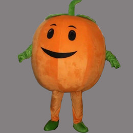 Wholesale Mascot Pumpkin - Cute Pumpkin Adult Size Mascot Costume Fancy Birthday Party Dress Halloween Carnivals Costumes With High Quality Free Shipping