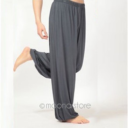 Wholesale Belly Dance Bloomers - 2017 New Men Women Ladies Comfy Harem Long Elastic Waist Pants Bloomers Pants Leg Warmer Belly Dance Boho Trousers FMHM786