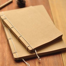 Wholesale Kraft Paper Note Book - Wholesale- Vintage Handmade Notebook Kraft Paper Sheet Sketch Note book