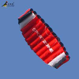 Wholesale Nylon Stunt Parafoil Sport Kite - Wholesale- Free Shipping Outdoor Fun Sports New Parafoil Kite  1.8m Dual Line Power Kites  Stunt Kite  Gift Good Flying Factory Outlet