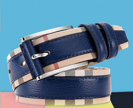 Wholesale Patchwork Cow - New belts for women Second Layer Cow genuine leather Fashion pin buckle high quality Men woman belt Luxury female strap for jean