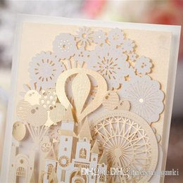 Wholesale New Styles Wedding Invitations - New Personalized Design White The Bride and Groom Dress Style Invitation Card Wedding Invitations Envelopes Sealed Card CW5093