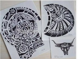 Wholesale Temporary Tattoo Chest - NEW ARRIVAL 3D Big Size Large Temporary Tattoo Stickers for Men AND Women Chest and Shoulder Tattoos
