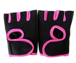 Wholesale Women S Fashion Winter Gloves - Brand Sports Gloves Fitness Exercise Training Gloves Fingerless Crossfit Unisex Guantes Luva Weightlifting Antiskid Gloves LJJC1579 60pcs