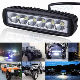 Wholesale Tractor Running Lights - New 6 inch 18W LED Light Bar 12V 24V Motorcycle LED Bar Offroad 4x4 ATV Daytime Running Lights Truck Tractor Warning Work Light