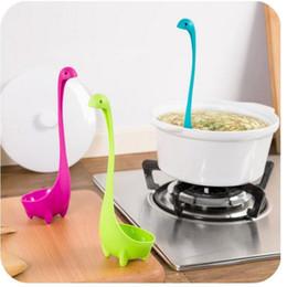 Wholesale Long Handled Plastic Spoons - Creative Nessie Dinosaur Soup Spoon Long Handle Lovely Monster Porridge Spoons Dinnerware Cooking Tools Kitchen Accessories