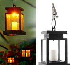 Wholesale Solar Landscape Lights Lanterns - Home House Outdoor Candle Lantern Solar Powered Landscape Umbrella Tree Lantern Lamp LED Bulbs Light LLFA