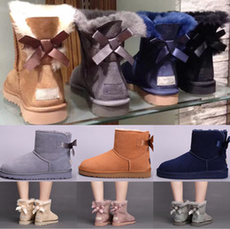 Wholesale Girls Rubber Boots Sale - Hot Sale High Quality WGG Women's Australia Classic tall Boots Women girl Student boots Snow Winter black blue boots leather shoes us 5-10