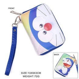 Wholesale Halloween Doraemon - Kawaii Doraemon Japanese Cartoon Wallet Handbag With Coin Pocket and Chain Purse With Colorful Zipper