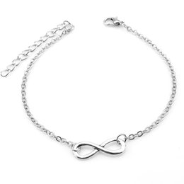 Wholesale Romantic Gifts Lovers - Wholesale Elegant Sterling silver Plated Double 8 Layer Girls Anklet Ankle Bracelet Chain Multi-Style Beach Weeding Girls Gift Free Shipping