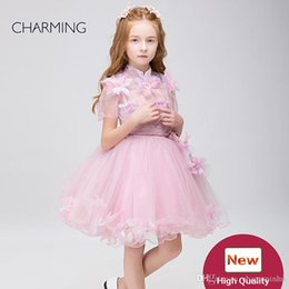 Wholesale Christmas Outfits Girls Pageants - Flower girl outfits high quality Designer kids dress Pageant competition Pageant dresses Dresses for flower girls pageant dresses