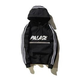 Wholesale Moleton Fashion - Wholesale- Black palace Skateboard Men hoodies moleton masculino Reflective hip hop palace hoody streewear sweatshirt men skate Pullover