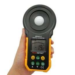 Wholesale Auto Range Meter - Freeshipping Digital Lux Light Meter Lumenmeter Lux FC Meters Luminometer With Auto Manual Range 0-200000 Lux 0-20000FC