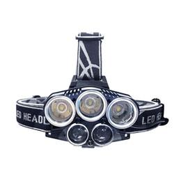 Linternas de luz azul online-Luz azul Luz blanca USB 5 Faros delanteros Faros Faros delanteros CREE XM L T6 Q5 15000 Lúmenes Potente Linterna Led Farol Lámpara
