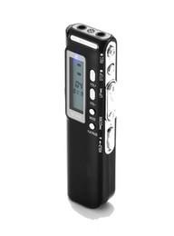 Wholesale- USB Digital Audio Voice Recorder 8GB Dictaphone Lettore MP3 Registratore Schermo LCD da mini macchina fotografica nascosta mini flash drive usb fornitori