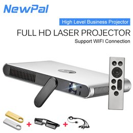 Wholesale Xbox Wifi - Wholesale-700LM ANSI DLP Bluetooth WIFI Projector Android 4.4 Conference Video PX4 Xbox Home Cinema Portable Projector