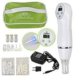 Wholesale Uk Massage - Portable Digital Microdermabrasion Diamond Dermabrasion Pen Vacuum Massage Skin Peeling Beauty Equipment